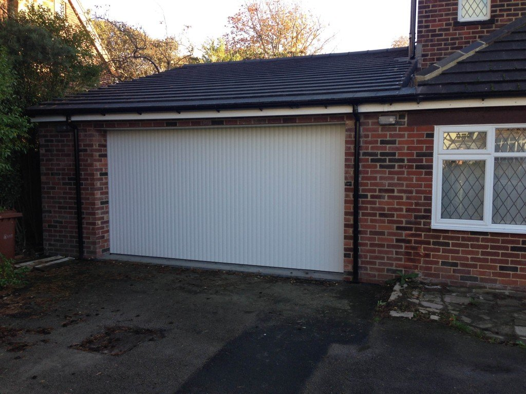 SWS Vertico Side Sliding Garage Door In White By ABi Garage Doors