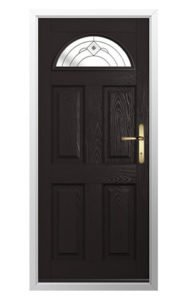 Conway Square Glass Solidor Composite Front Door