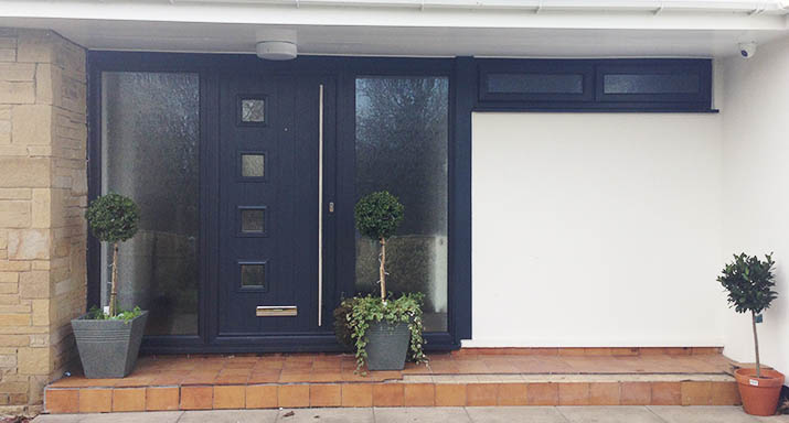 Matching Ral 7016 Anthracite Grey Milano Entrance Door And